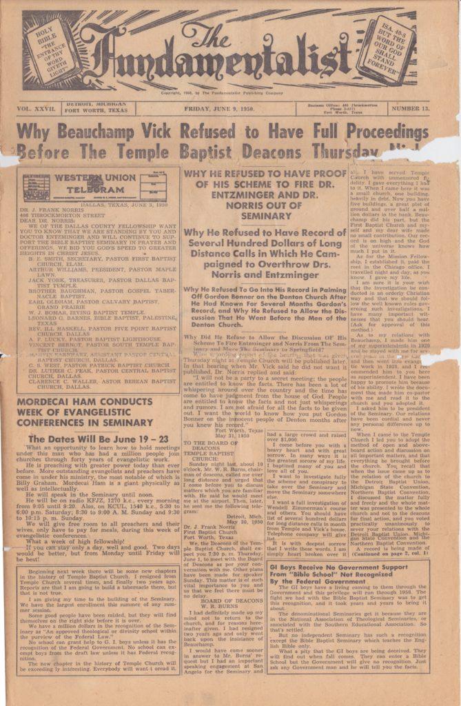 1950 Fundamentalist - Page 1