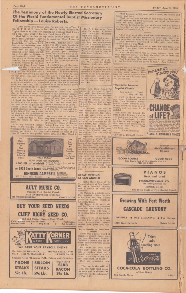 1950 Fundamentalist - Page 8