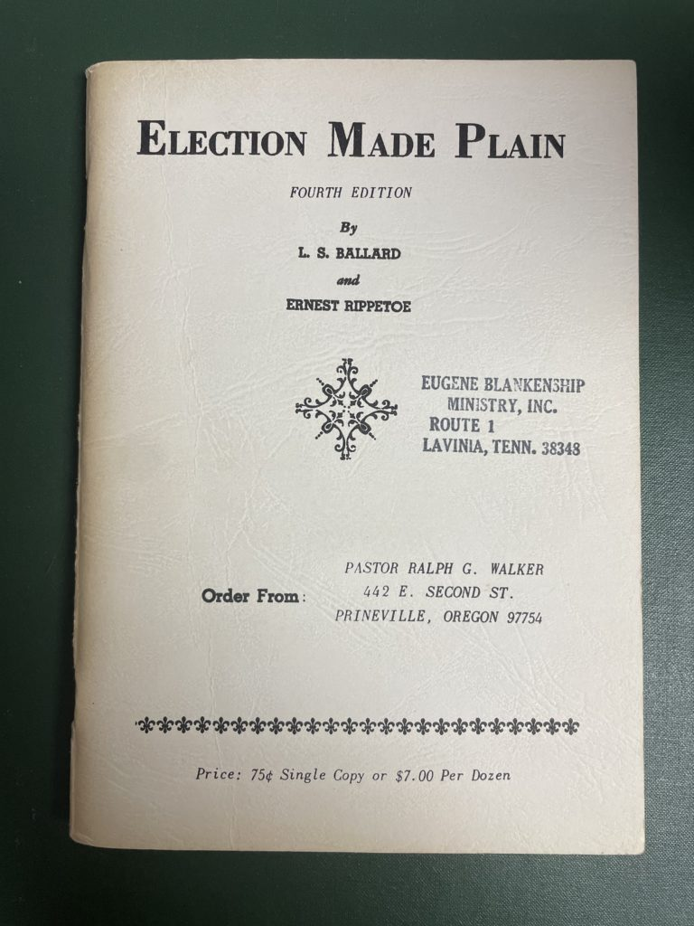 """Photo of book """"Election Made Plain"""""""